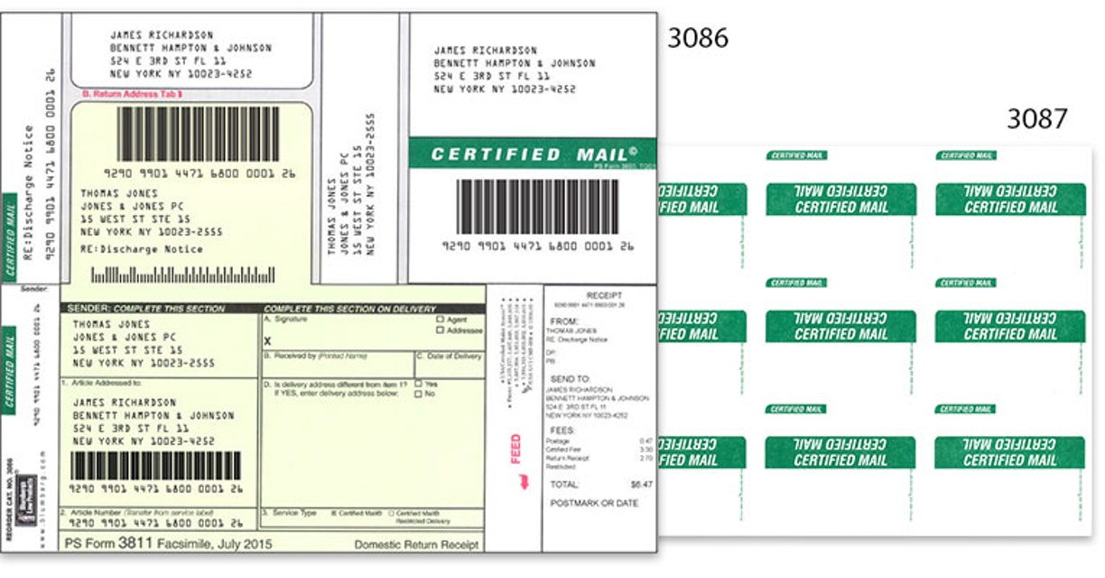 certified mail pro software and labels